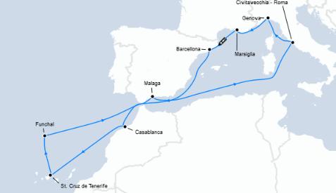 Guarda qui l'itinerario!
