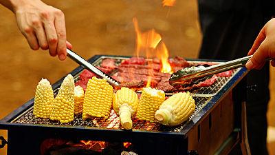 肉の温度を計測可能・LEDライト搭載、バーベキューへの執念を感じるトング「Digital BBQ tongs」 - GIGAZINE