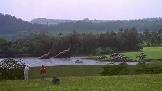 Image result for jurassic park walk scene