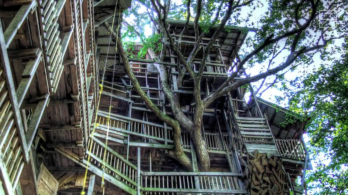 The Biggest Tree House In The World Equivalent To A 10 Story Apartment The Minister S Tree House Gigazine