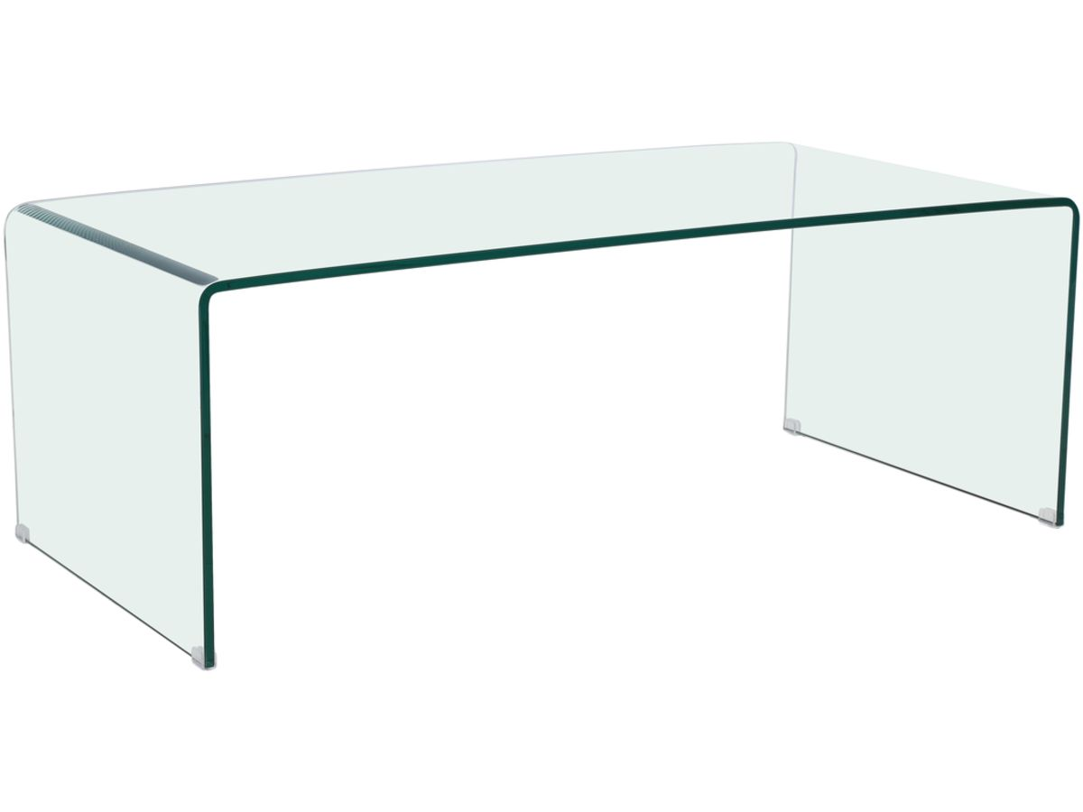 table basse rectangulaire livorno 120 x 60 x 40 cm transparent