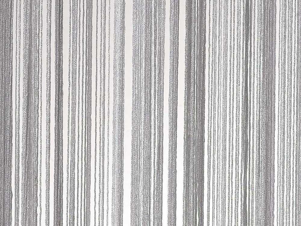 rideau fil blanc argent 31003 31004