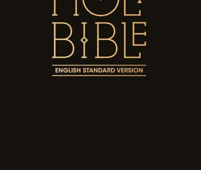 Collins Anglicised Esv Bibles Holy Bible English Standard Version Esv Anglicised Pew Bible Black