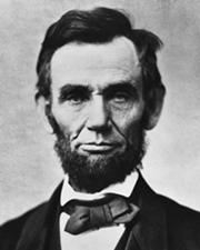 US President Abraham Lincoln