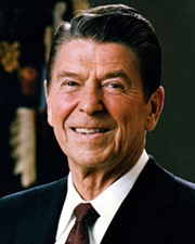 US President & Actor Ronald Reagan