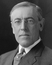 US President Woodrow Wilson