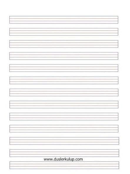 MaNBEQ Bütün Sınıflar İçin Kılavuz Çizgili Kağıt Şablonu İndir