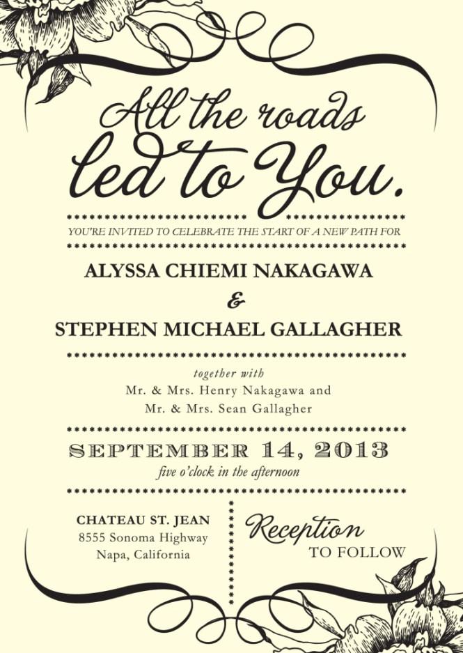 Casual Wedding Invitations Wording Bride Groom Hosting