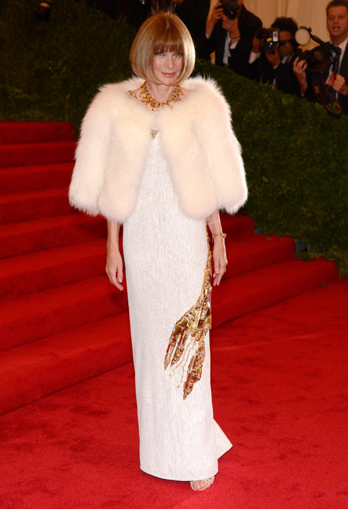 Anna Wintour in Prada