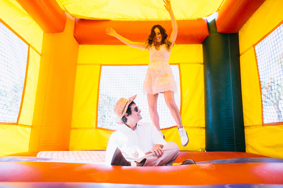 Fun Wedding Idea-a bounce house