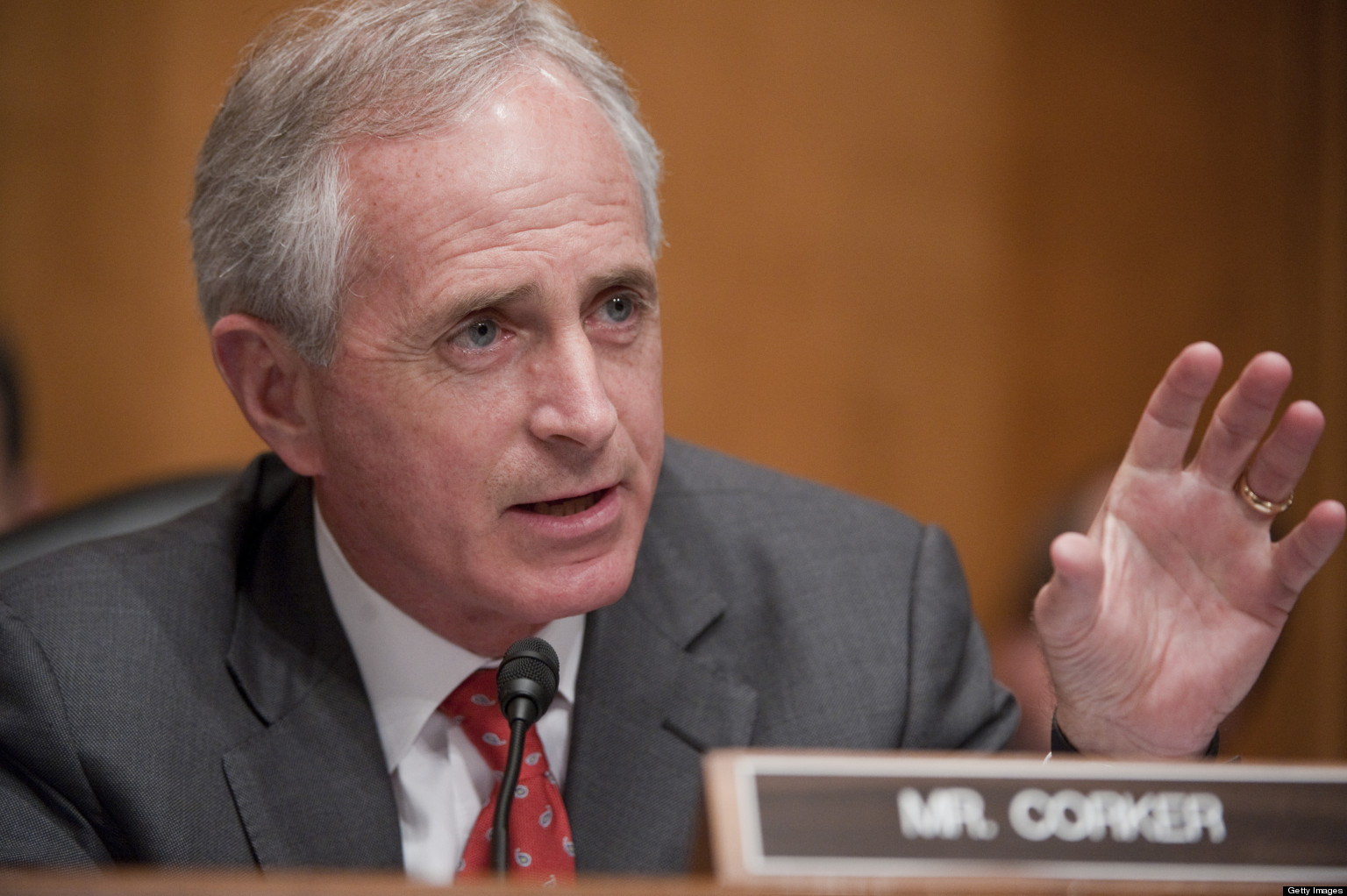 Image result for photos of bob corker at hearing