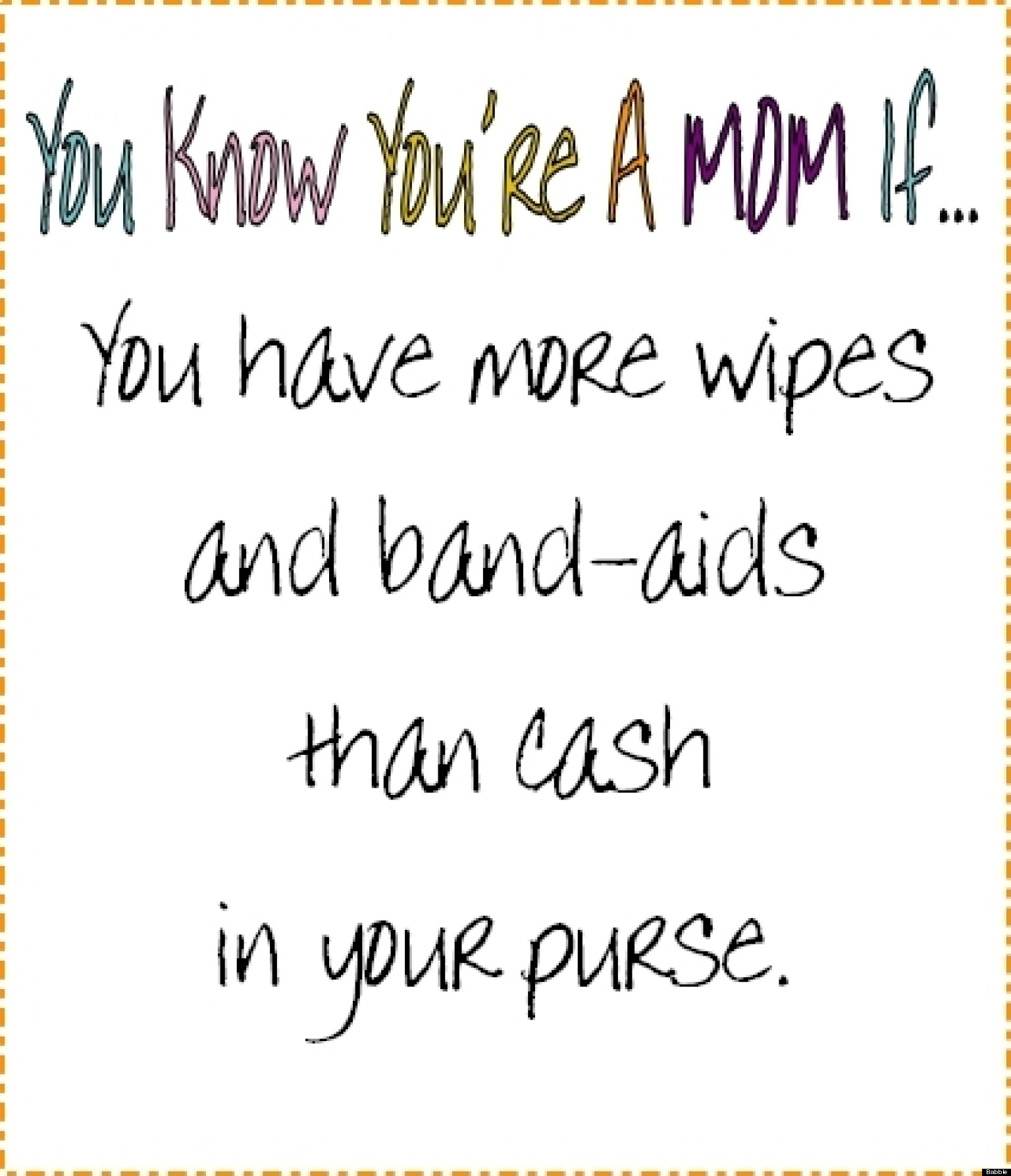 You Know You Re A Mother If
