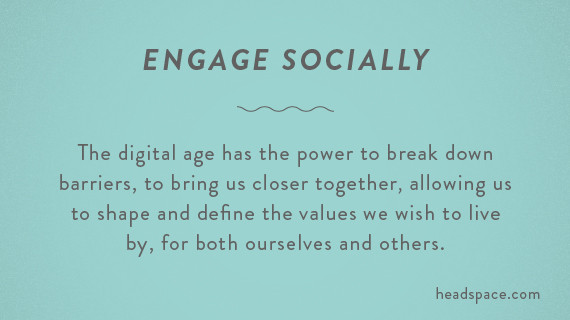 engage socially