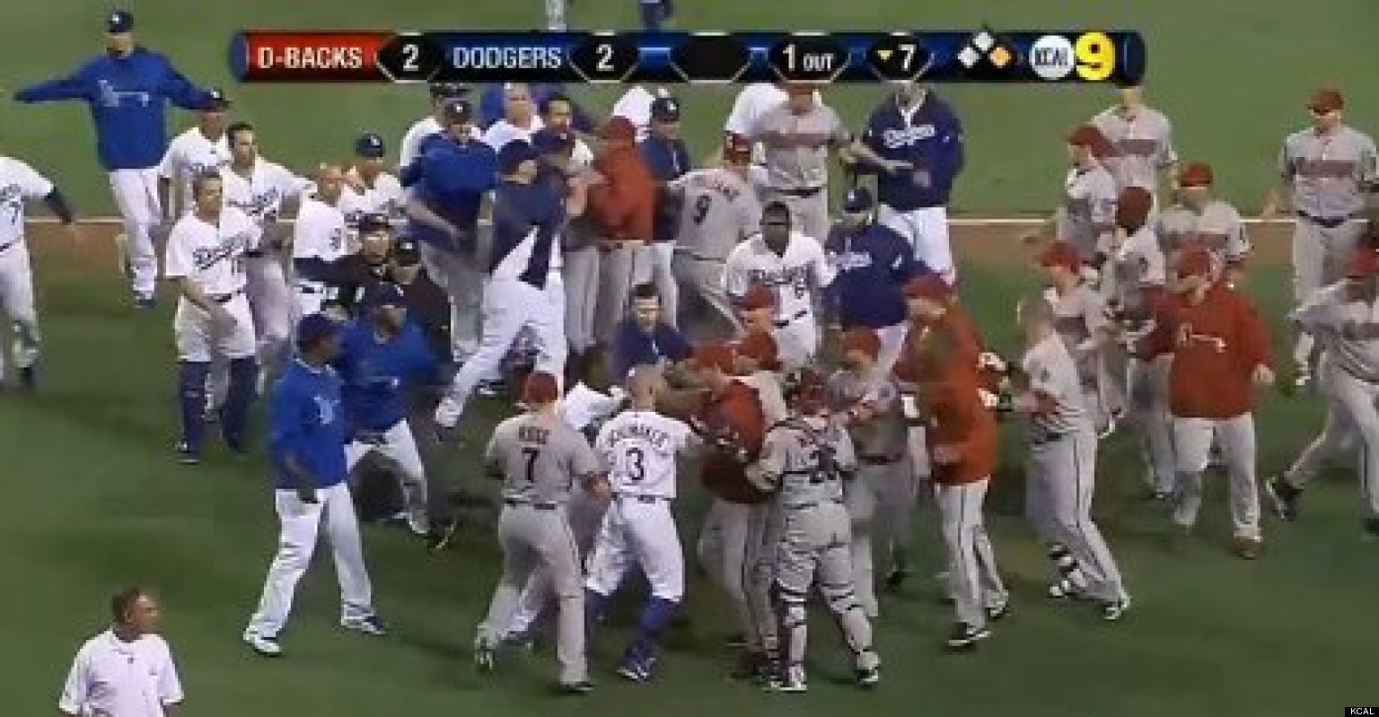 Dodgers and Diamondbacks fight and brawl, receiving suspensions.
