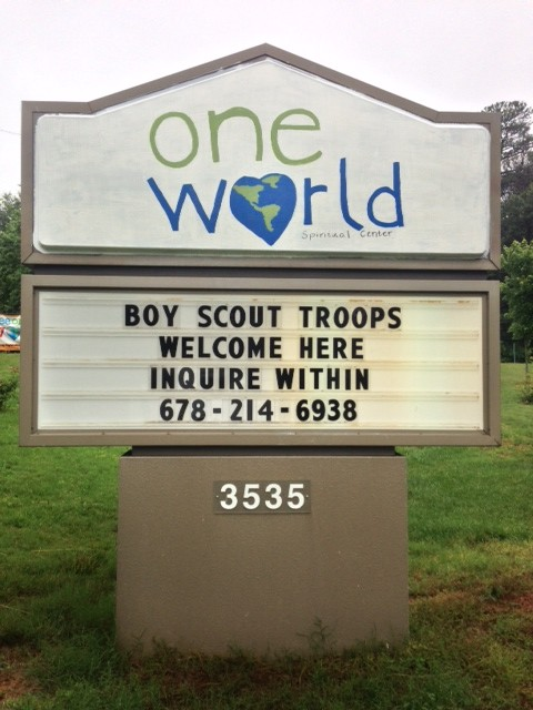 church welcomes scouts