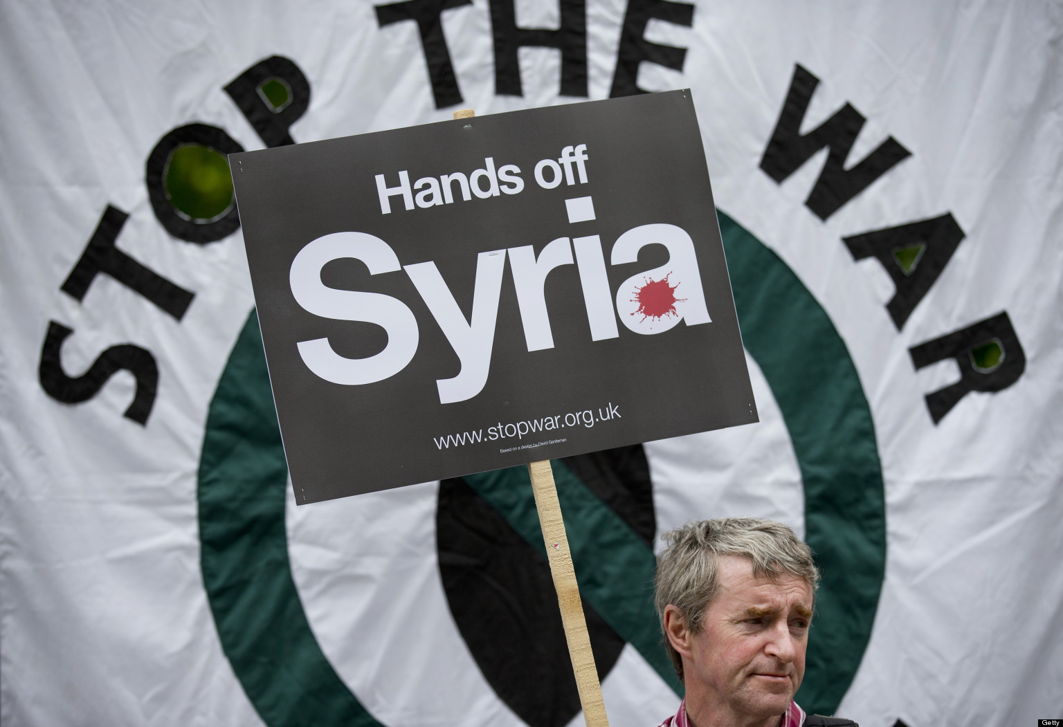 Image result for picture stop the war hands off syria