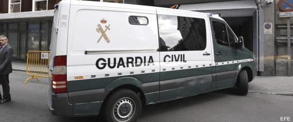 Furgón de la Guardia Civil donde es trasladado Bárcenas hacia la cárcel de Soto del Real