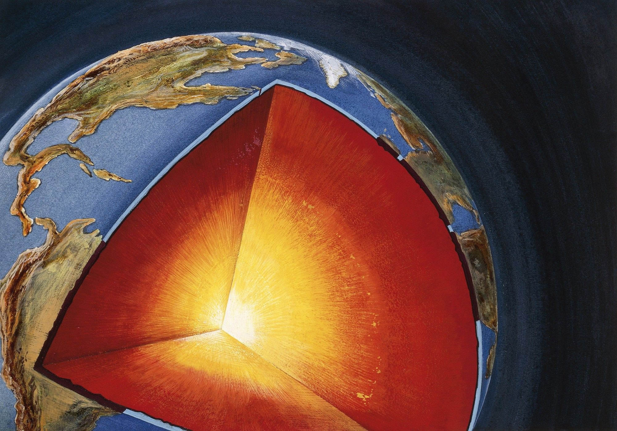 Earth S Core Spins In Two Different Directions
