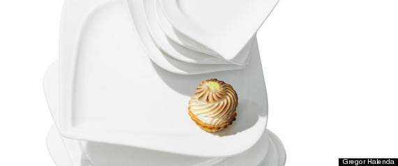 canapé and dessert plates
