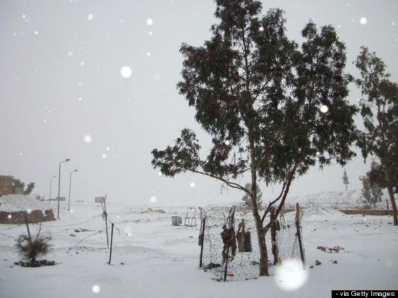 snow egypt