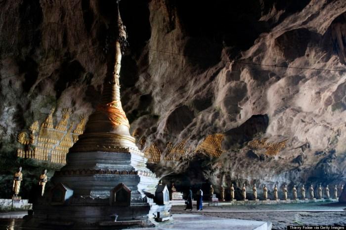 cave temple burma