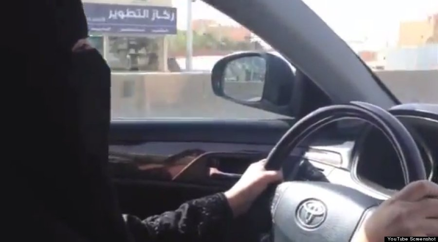 Screenshot of a video posted by the Saudi women driving campaign shows Azizah al-Yousif at the wheel. (YouTube/screenshot)