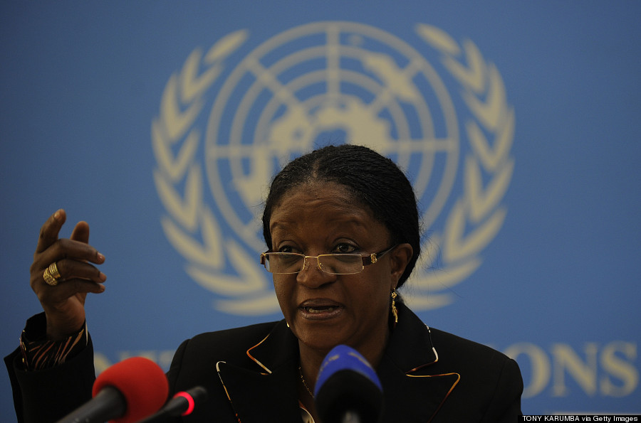 Zainab Bangura gives a press conference at the United Nations office in Nairobi on April 4, 2013. (TONY KARUMBA/AFP/Getty Images)
