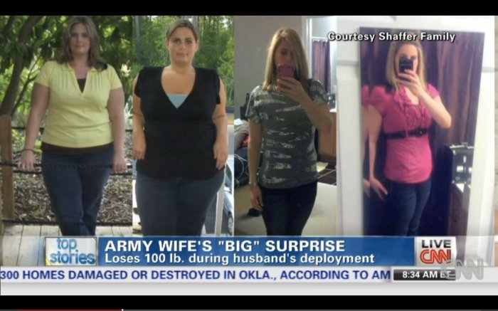 army wife loses weight