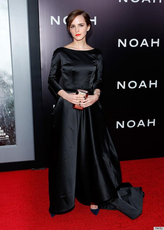Emma Watson Goes Ultra Glam For Noah In A Black Dress