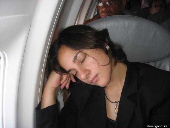 sleep on airplane