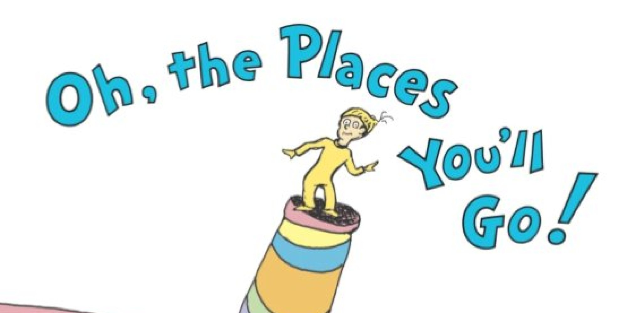 oh the places youll go colouring page 2