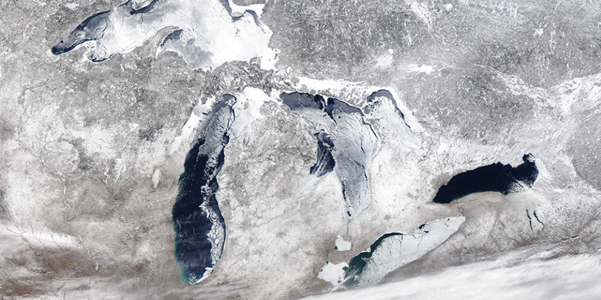 The Great Lakes Are Still Almost Half Frozen And It Could