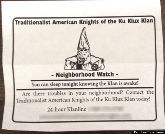 kkk neighborhood watch