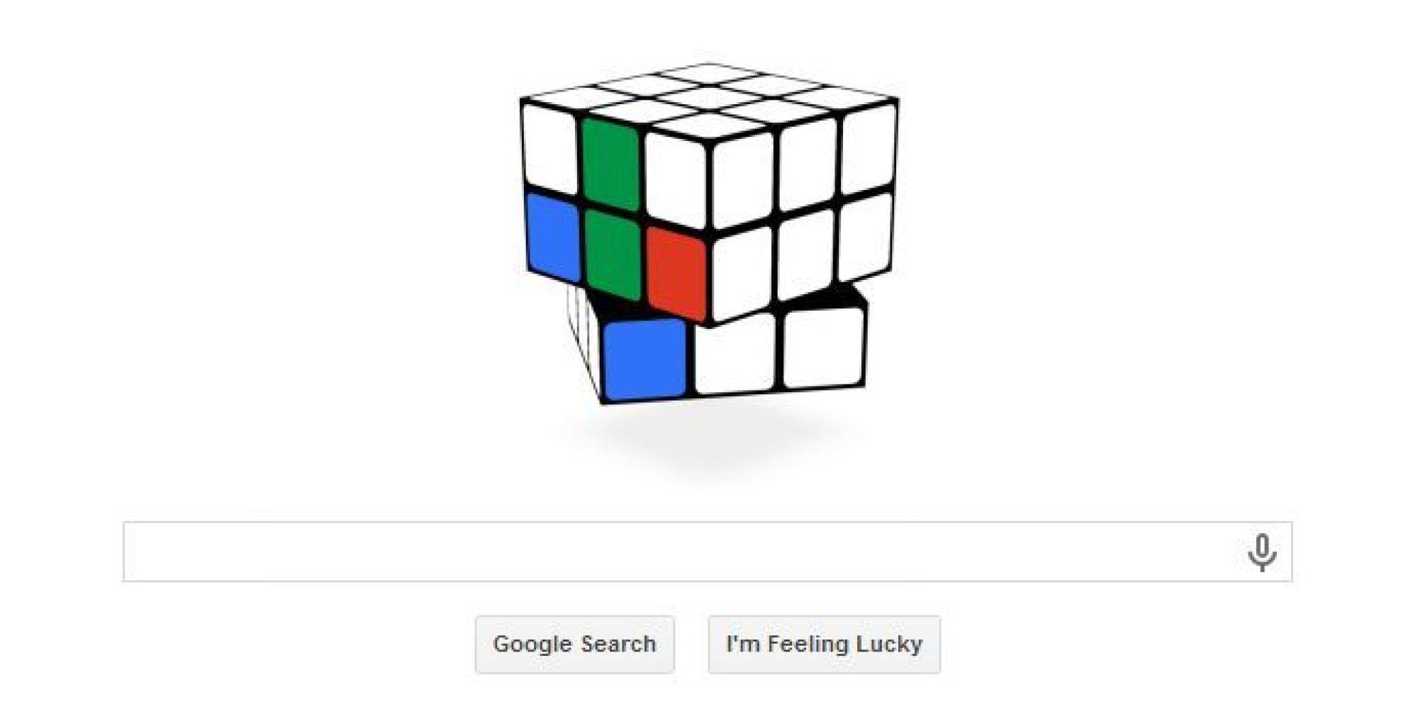 Rubik S Cube Le Doodle De Fete Les 40 Ans Du