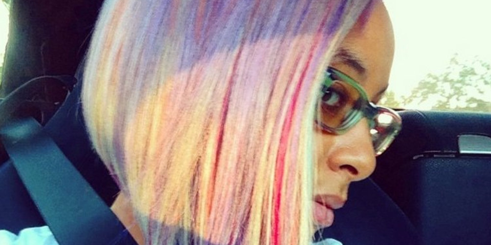 Raven Symone Has Rainbow Hair Now