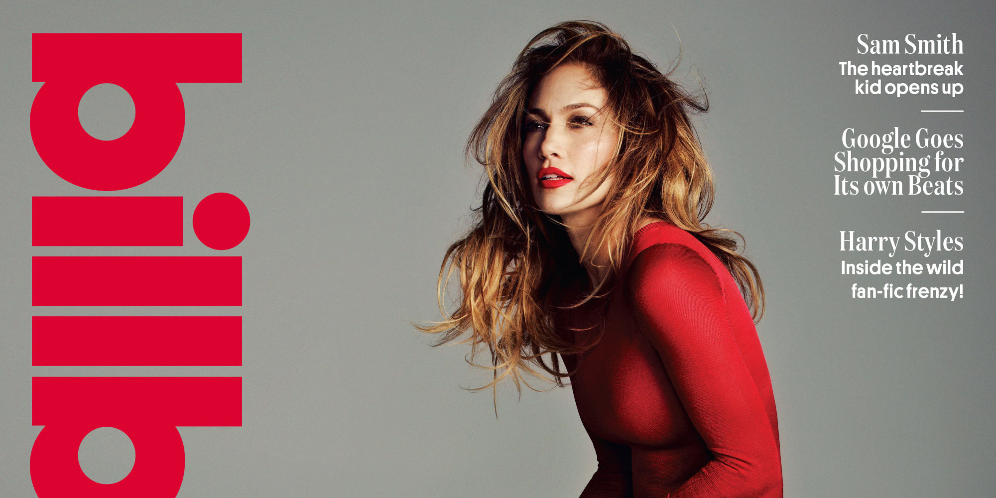 Jennifer Lopez Covers Billboard In Smokin Leotard Red