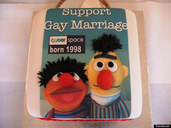 Bert and Ernie #gaycake