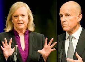 Jerry Brown Meg Whitman Whore