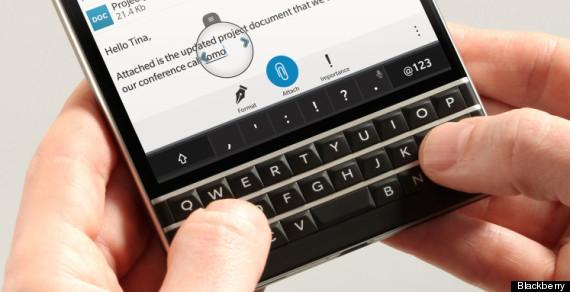 blackberry passport keyboard buttons