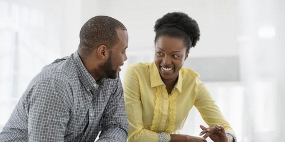 Image result for black couples talking