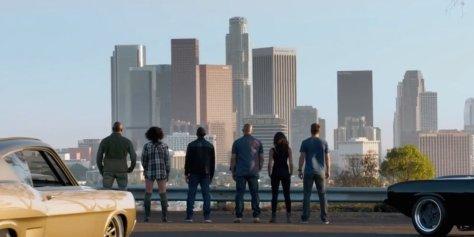 Furious 7 cast kijkt naar hun home town Los Angeles