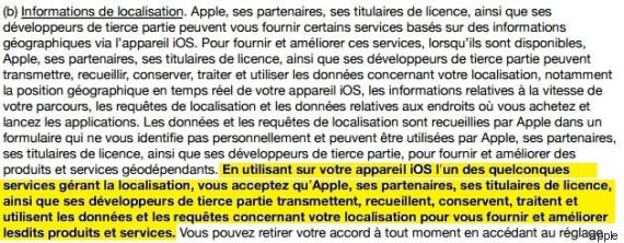 apple vie privee