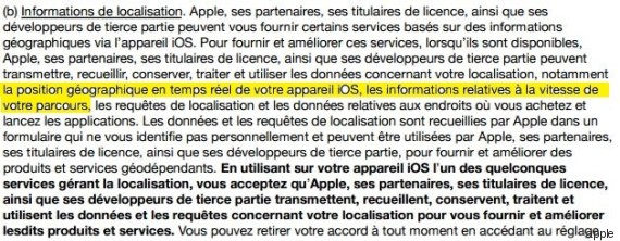apple vie privee