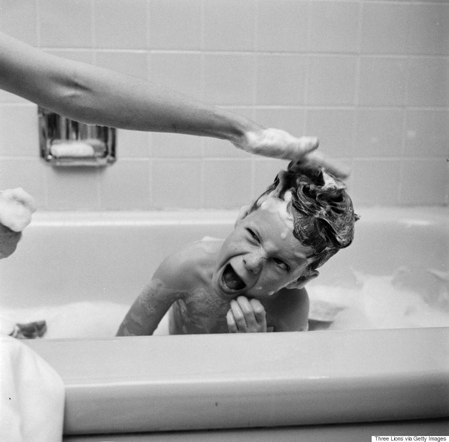 vintage child bath