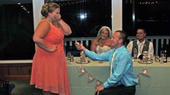 proposing at someone elses wedding
