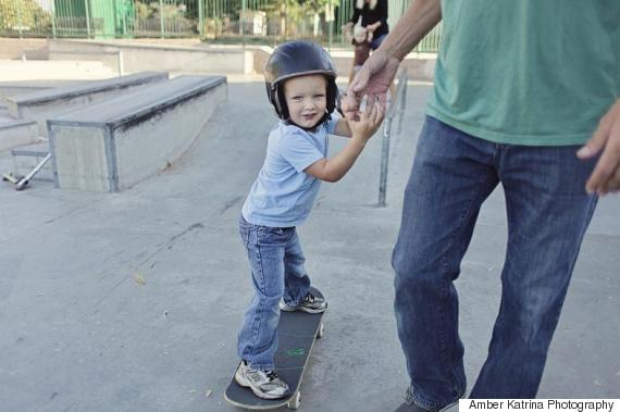 kid on skateboard
