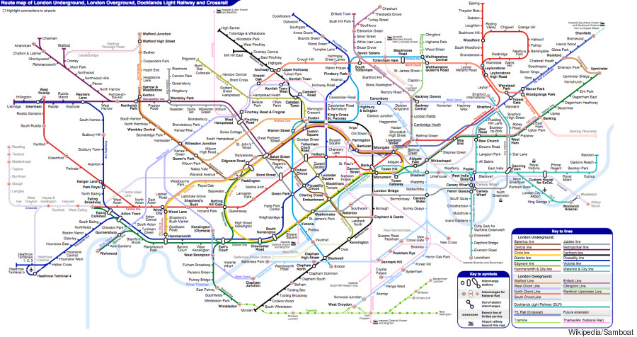 unofficial tube map