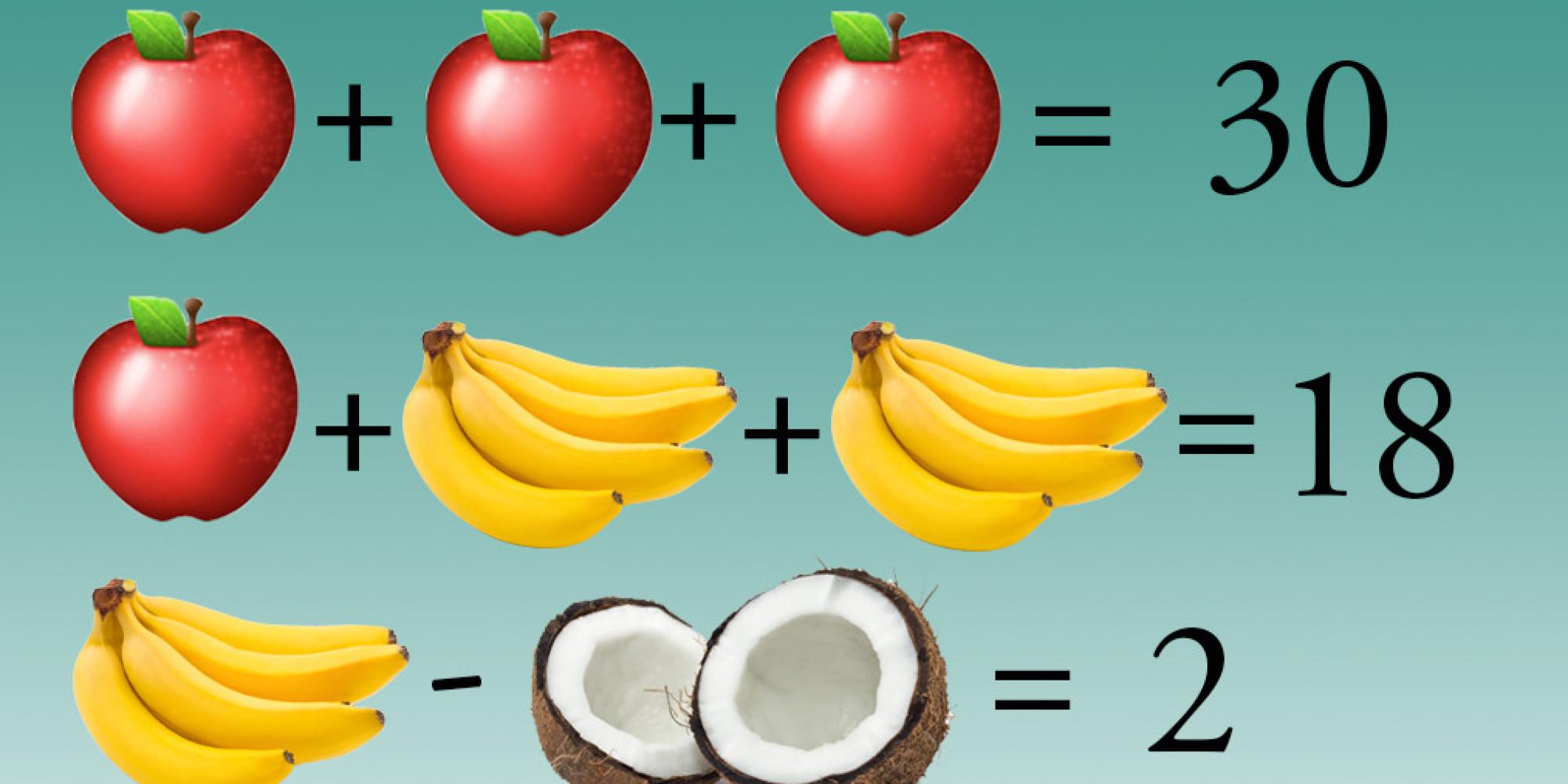 Simple Algebra Fruit Puzzle Divides Facebook Users