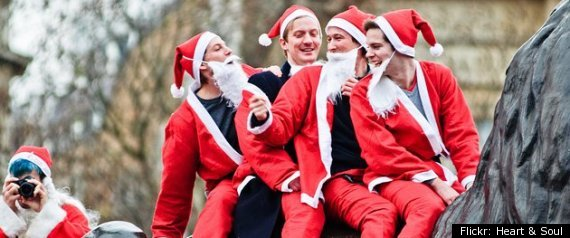 Naked Santas Go For World Record In San Francisco