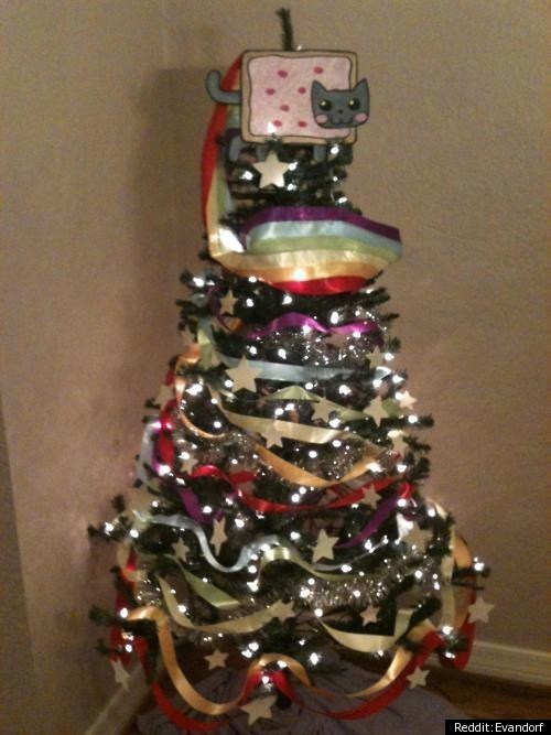 Nyan Cat Christmas Tree PHOTO HuffPost